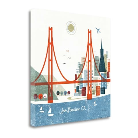 """""""Colorful San Francisco"""" by Michael Mullan, Giclee Print on Gallery Wrap Canvas"""