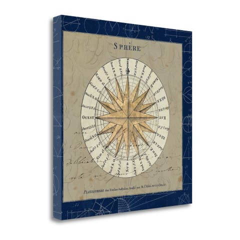 """""""Sphere Compass Blue"""" by Sue Schlabach, Fine Art Giclee Print on Gallery Wrap Canvas, Ready to Hang"""
