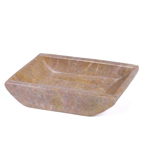 """Creative Home Rose Marble 5-1/8"""" x 4-1/4"""" Boat Shaped Candle Holder Plate. Opens flyout."""