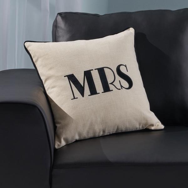 "Alvarado Modern Fabric ""MRS"" Throw Pillow by Christopher Knight Home"