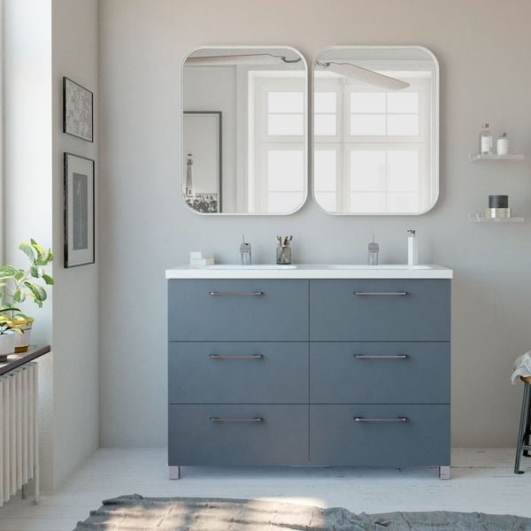 "48"" Double Bathroom Vanity Cabinet Nexo Set 