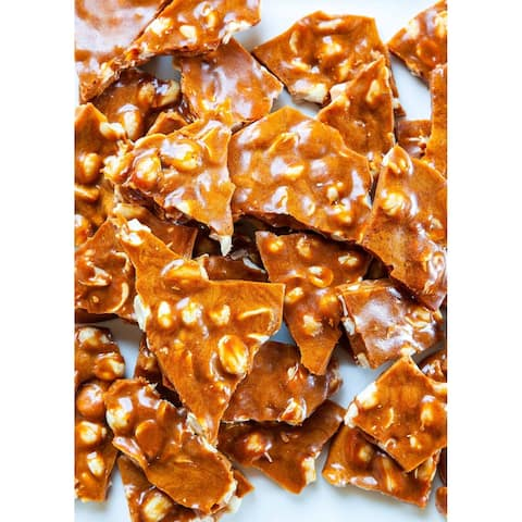 Andy Anand Old Fashioned Handmade Bacon Peanut Brittle 1 lbs