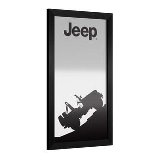 Jeep Silhouette Framed Bar Mirror