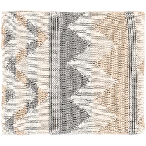 Mairi Knitted Chevron Cotton Throw