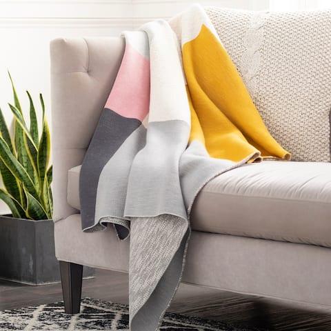 Anaya Modern Knitted Cotton Throw