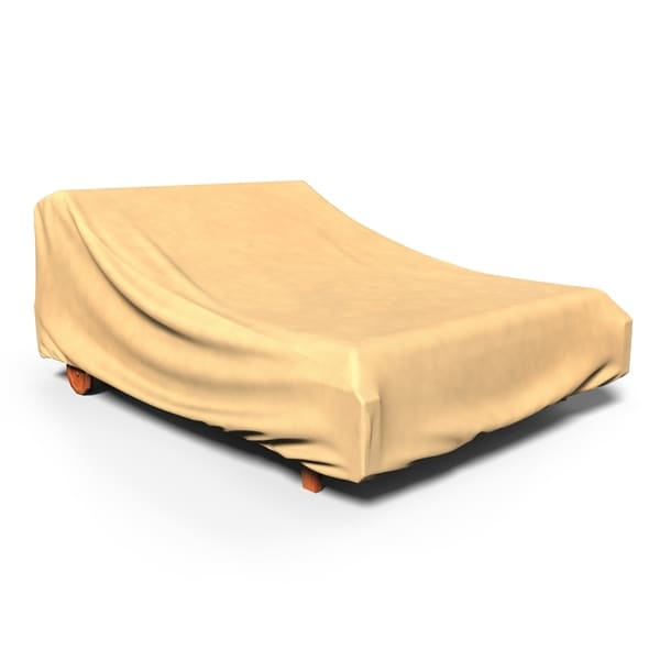 Budge Water-Resistant Double Patio Chaise Lounge Cover, All-Seasons, Nutmeg, Multiple Sizes. Opens flyout.
