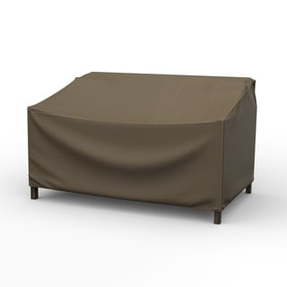 Budge Waterproof Outdoor Patio Loveseat Cover, NeverWet® Hillside, Black and Tan, Multiple Sizes