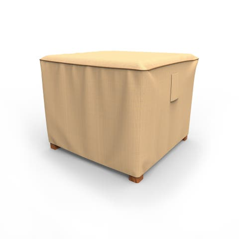 Budge Waterproof Outdoor Square Patio Table Cover, / Ottoman Cover, Sedona, Tan, Multiple Sizes