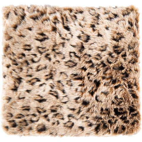 Elandri Faux Fur Leopard Print Throw