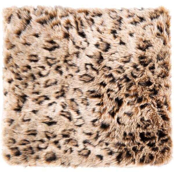 Elandri Faux Fur Leopard Print Throw. Opens flyout.