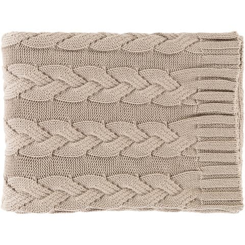 Katia Cable Knitted Cotton Throw