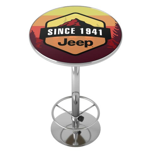 Jeep Sunset Mountain Chrome Pub Table