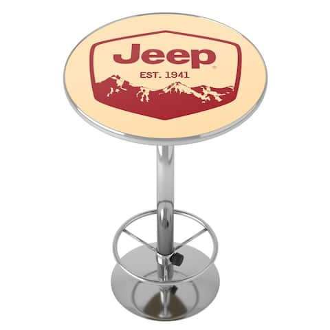Jeep Red Mountain Chrome Pub Table