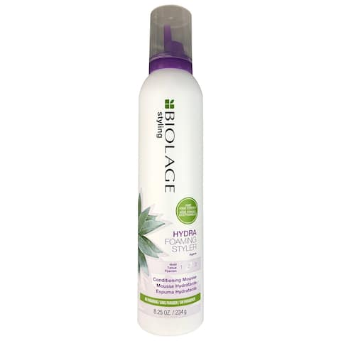 Matrix Biolage Hydra Foaming Hold 2 Conditioning Hair Mouse with Agave 8.25 oz No Parabens