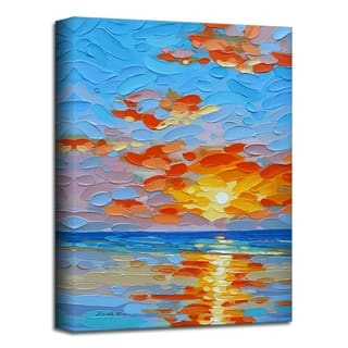 'Sunburst' Coastal Canvas Wall Art