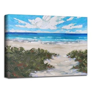 'Muted Coast' Canvas Coastal Wall Art