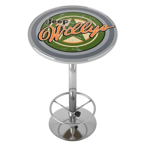 Jeep Willys Vintage Chrome Pub Table
