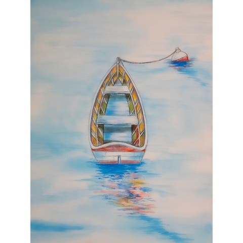 CANVAS Boat in The Water by Ed Capeau Art Painting Reproduction