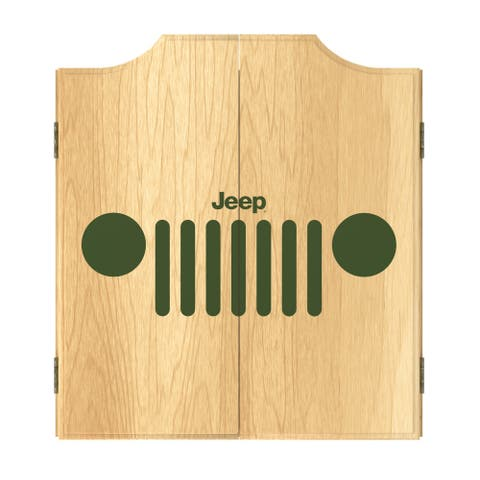 Jeep Grille 1 Dart Board Cabinet Set