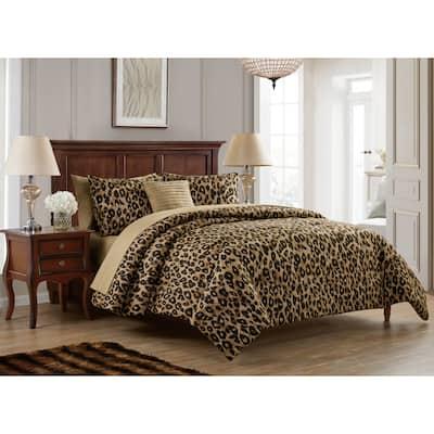 Cheetah Reversible Bed-in-a-Bag Comforter Set
