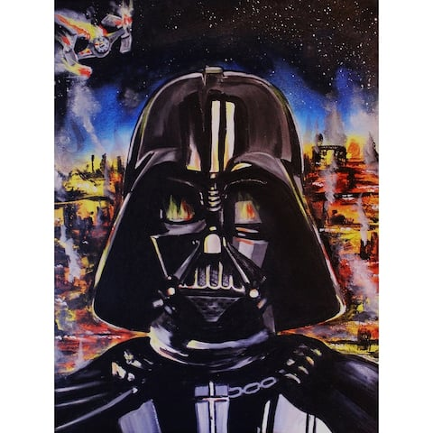 Darth Vader by Ed Capeau Giclee Art Painting Reproduction POD