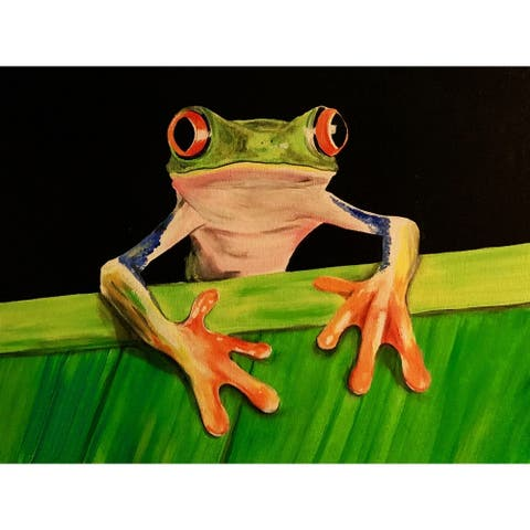 What The Frog by Ed Capeau Giclee Art Painting Reproduction POD