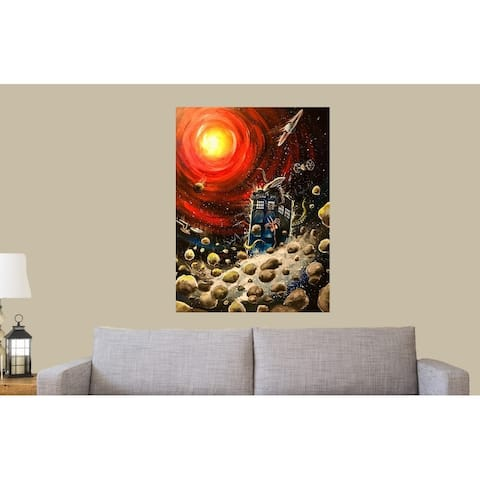 Sci-Fi Collision by Ed Capeau Giclee Art Painting Reproduction POD