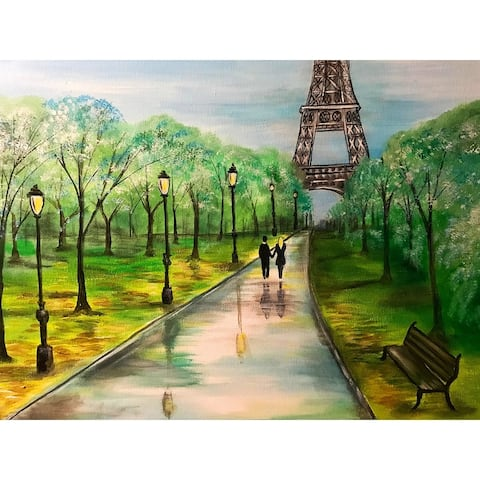 Love in Paris by Ed Capeau Giclee Art Painting Reproduction POD