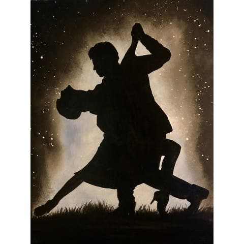 Dancing Couple in the Moonlight by Ed Capeau Giclee Art Painting Reproduction POD