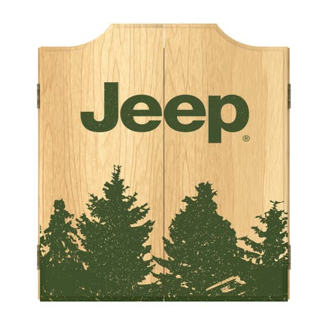 Jeep Tree Dart Board Cabinet Set