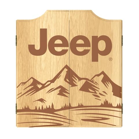 Jeep Sand Mountain Dart Board Cabinet Set