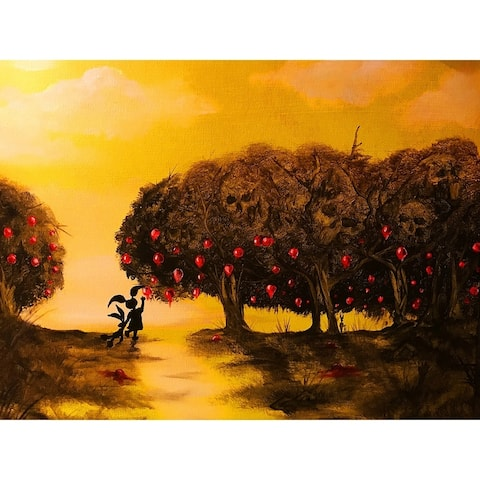 Mystery Girl Crabapple Trees by Ed Capeau Giclee Art Painting Reproduction POD
