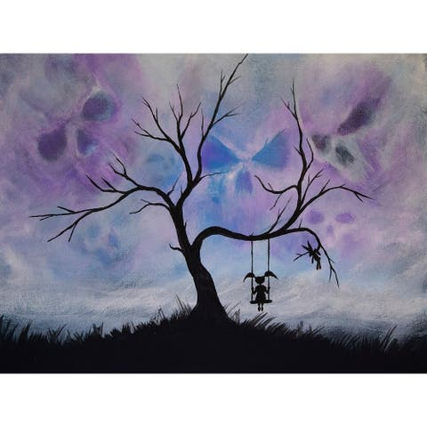 Mystery Girl Tree Swing Sunset by Ed Capeau Giclee Art Painting Reproduction POD