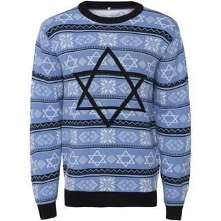 Men's Sweater Ugly Holiday Jewish Christmas, Night Before Hanukkah