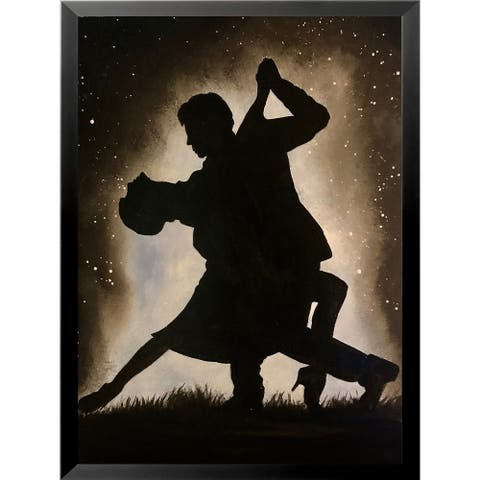 FRAMED Dancing Couple in the Moonlight by Ed Capeau Art Painting Reproduction