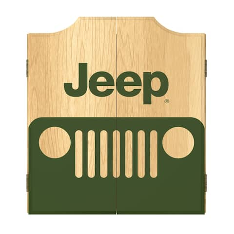 Jeep Grille 2 Dart Board Cabinet Set
