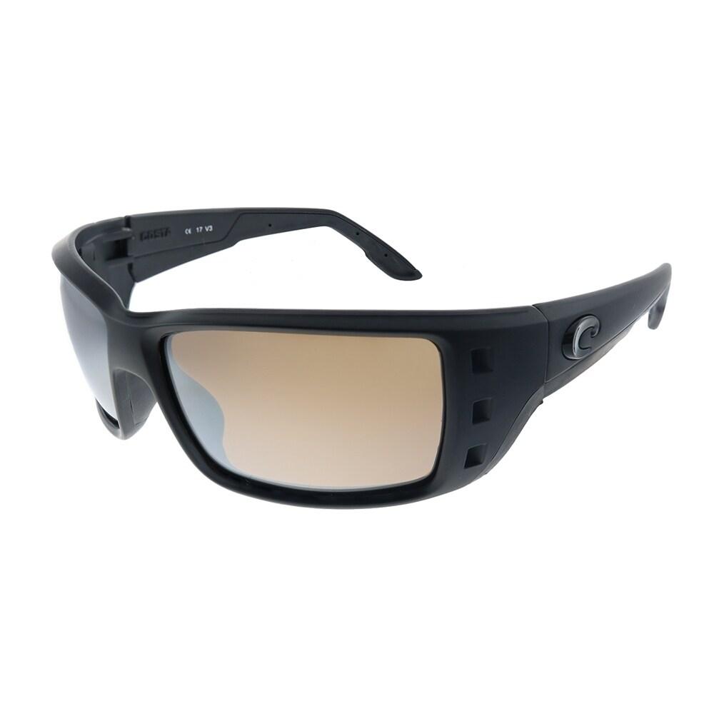Costa Del Mar Permit Matte Black Frame Gray 580P Plastic Polarized Lens