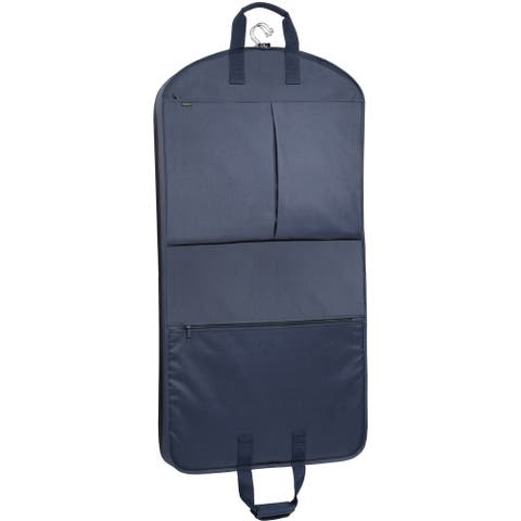 WallyBags 45-inch Garment Bag with Extra Capacity and Accessory Pockets - 45 x 22 x 4