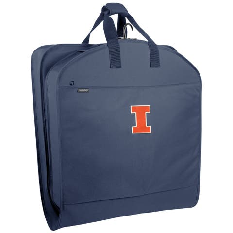 """Illinois Fighting Illini 40"""" Suit Length Garment Bag with Pockets - 40 x 22 x 3"""