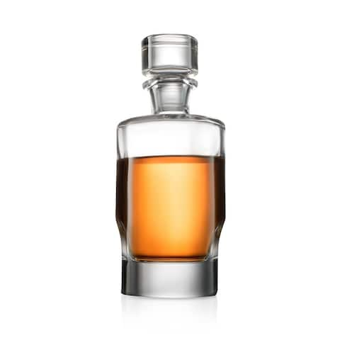 JoyJolt Carina Non-Leaded Crystal 25 oz Whiskey Decanter with Stopper