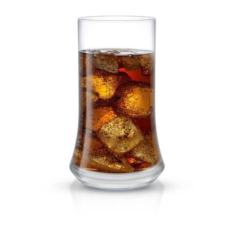 JoyJolt Cosmos Crystal 18.5 oz Drinking Glasses, Heavy Base Set of 4 Highball Glasses