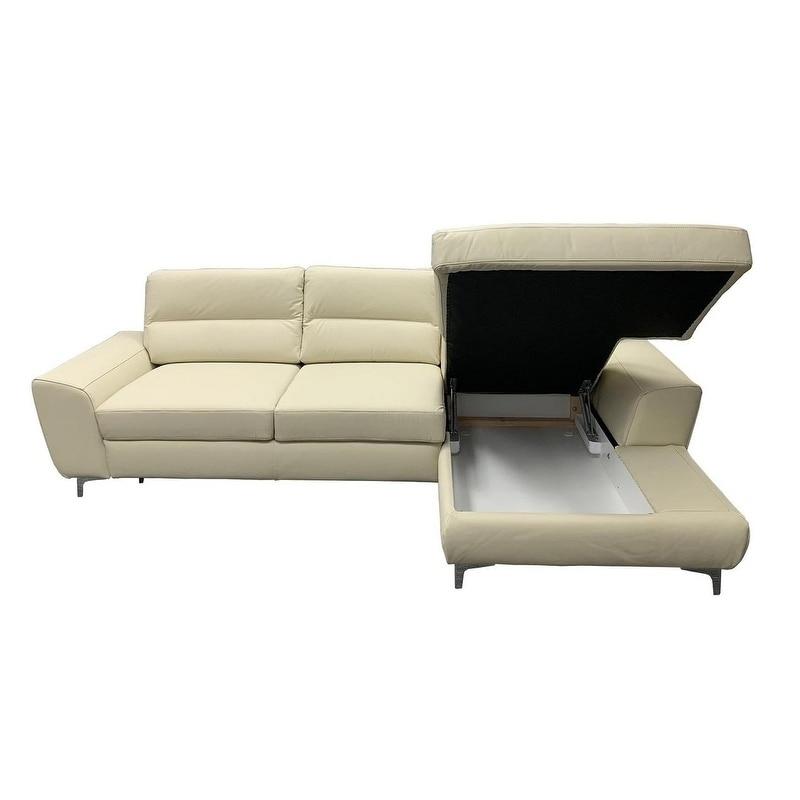 Livoti Leather Sectional Sleeper Sofa