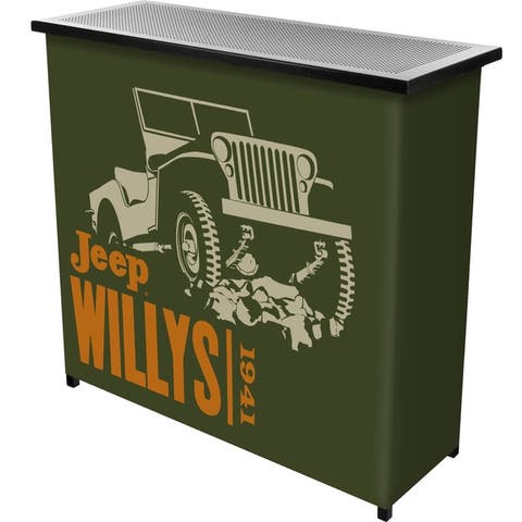 Jeep Willys Collapsible Portable Bar