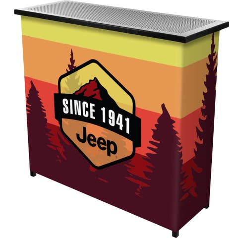 Jeep Sunset Mountain Collapsible Portable Bar