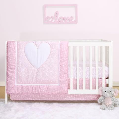 PS by The Peanutshell Hearts 3-Pc Microfiber Crib Bedding Set