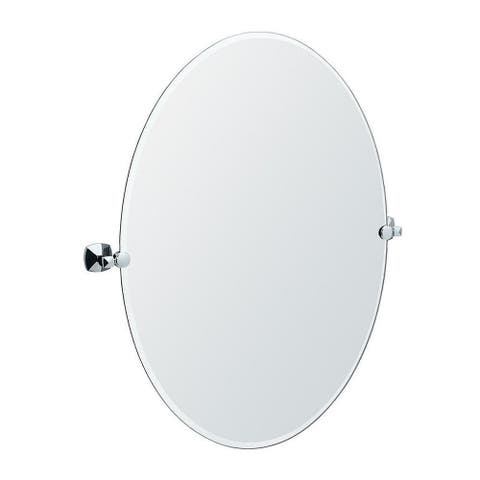 Large Oval Titling Wall Mirror
