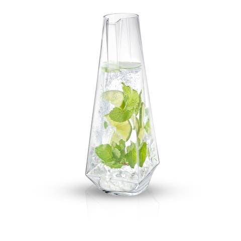 JoyJolt Infiniti Beverage Pitcher 43Oz Deluxe Glass Pitcher