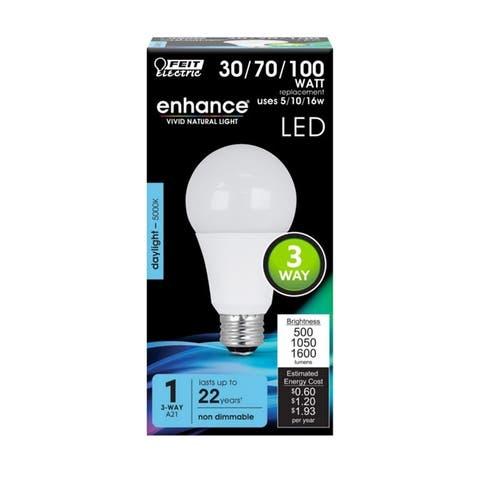 FEIT Electric Enhance 16 watts A21 Three Way Bulb LED Bulb 1600 lumens Daylight
