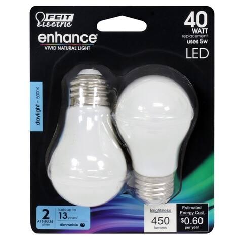 FEIT Enhance 5 watts A15 Filament LED Bulb 450 lumens Daylight 40 Watt
