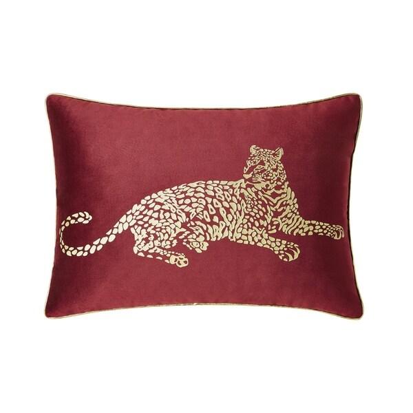 VCNY Home Gold Cheetah Velvet Decorative Pillow